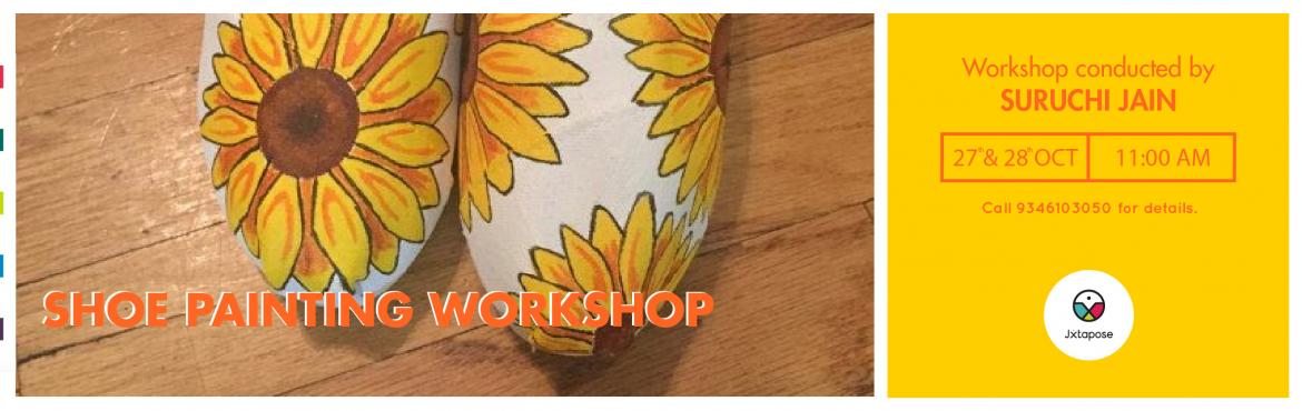 Book Online Tickets for SHOE PAINTING WORKSHOP, Hyderabad. Shoe concept is a home-run project by Ms Suruchi Jain where she, being a great artist, hand paints shoes to create unique and stylish footwear. Each of her pieces has a story to tell and is a one-of-a-kind statement of fun, quirk and fashion.Join Ms