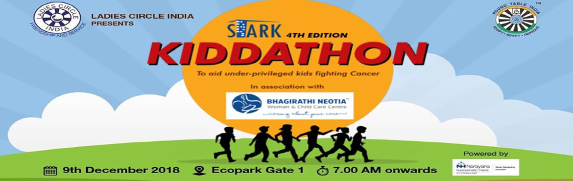 Book Online Tickets for Stark Kiddathon, Kolkata.  Apollo Running Champ 4Km run / Run Start time:7: 15 am/charges: Rs 700 Super Champs 2.5 KM run (Age group 8 years plus) Run start time:8: 15 am/ charges Rs700 Budding Champ 1.25 Km ( Age group 8 year plus) Run start tim