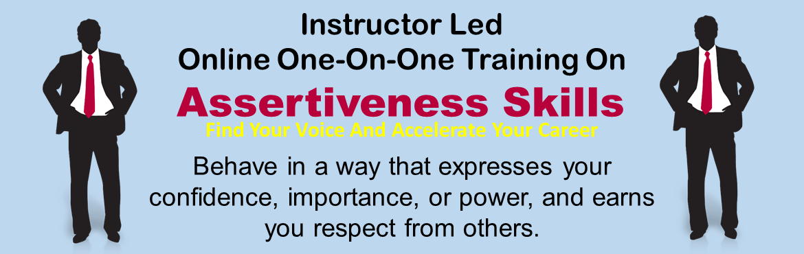 Book Online Tickets for Online One-On-One Training On Assertiven, Mumbai. Online One-On-One Training On Assertiveness Skills Find Your Voice And Accelerate Your Career Being assertive means expressing our feelings, thoughts and needs without hinting, playing games, blaming, shaming, or hoping the other person reads o