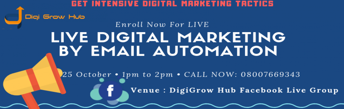 Book Online Tickets for Digital Marketing With Email Automation, Pune. Digital Marketing With Email Automation - Engage You Audience with emails Live Hands-on Webinars  Did you know that email gets 27 times more engagement per subscriber than Facebook posts per fan? LinkedIn posts get 109 times less engagement than emai