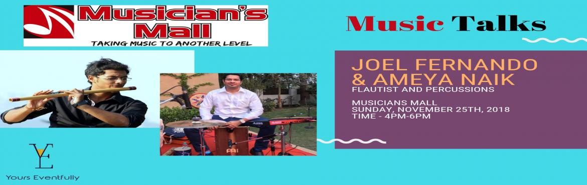 Book Online Tickets for MM Music Talks presents Joel Fernando ft, Mumbai.  MM Music Talks is a series of workshops hosted at Musician's Mall that brings musician's & music producers from the industry together to educate & network with aspiring Artists.       Mr.Joel Fernando has a deep heart for Mu