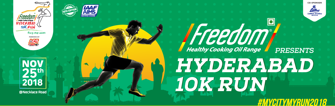 Book Online Tickets for Hyderabad 10K Run 2018, Hyderabad. The Hyderabad 10K Run Foundation was established in the year 2003, under the leadership of many social elites of Hyderabad, with the following objectives: Bring the city together irrespective of the socio-economic status of the populace.Promote healt