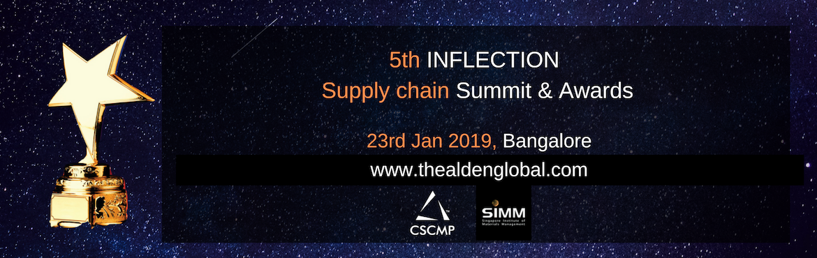 Book Online Tickets for 5th Inflection Supply Chain Summit and A, Bengaluru. Join Largest Supply Chain, Logistics & Procurement Leaders Gathering In January 2019, Chief Supply chain Officers, Chief Procurement Officers, Chief Logistics Officers, SVPs & VPs from global and regional companies will discuss the strategies