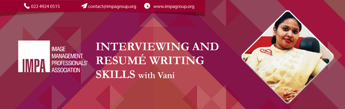 """Book Online Tickets for Interviewing and resume writing skills, Chennai. PROFILE OF THE SPEAKER  Vani comes with 15+ years of corporate experience and is currently a senior leader in an IT company. She is the recipient of """"UNIFIED BRIANZ OF INDIA AWARD DE EXCELLENCE 2018"""" for innovation and organizationa"""