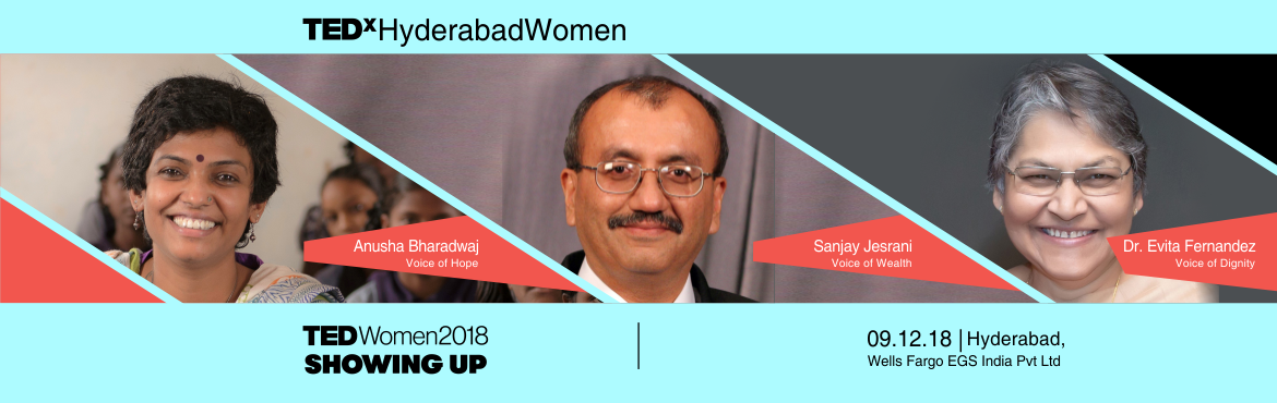 Book Online Tickets for TEDxHyderabadWomen 2018, Hyderabad. Women the world over are no longer accepting the status quo. They\'re rising up, breaking out and pushing boundaries. Whatever their focus and talent — business, technology, art, science, politics — these pioneers and their allies are joi