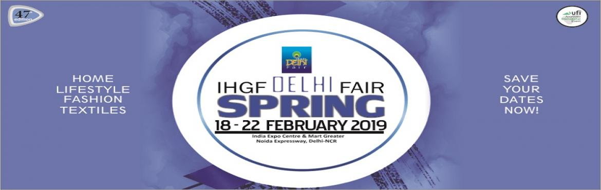 Book Online Tickets for IHGF Delhi Fair Spring 2019, Greater No. World's Premier Sourcing Show's Awesome Autumn'18 Edition paves way for a Super Spring'19 Show With excellent business tidings in the recently concluded IHGF Delhi Fair-Autumn 2018, while the top manufacturers, exporters and a