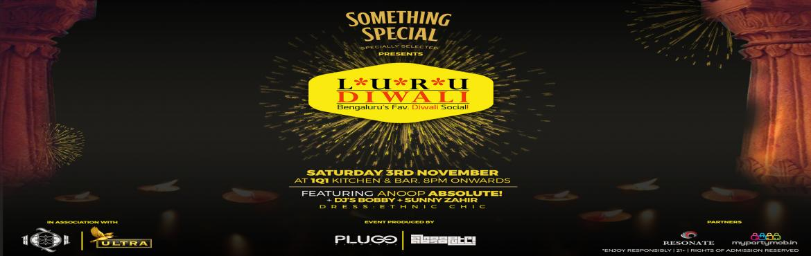 Book Online Tickets for Luru Diwali Party 2018 at 1Q1, Bengaluru. Bengaluru's Favourite Diwali Social is Back!!!Something Special Scotch Pz. LURU DIWALI '18In assn with Kingfisher UltraGet set to sparkle this Diwali as we gear up for the most awaited Diwali celebrations in town!!From the most