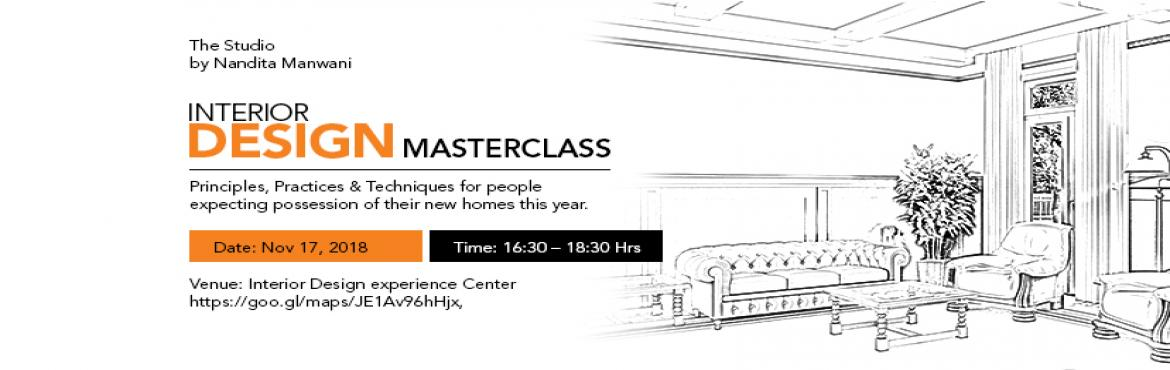 Book Online Tickets for Residential Interior Design Masterclass, Bengaluru. Join Bangalore's noted Interior Designer Nandita Manwani and her team for this first of a kind Masterclass as they take participants through residential interior design best practices for space planning, lighting, colour selection and choo