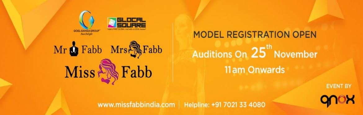 Book Online Tickets for Miss Mr Mrs Fabb Nagpur Auditions, Nagpur. Audition for biggest beauty pageant of  Nagpur city. (Miss Fabb Nagpur / Mrs Fabb Nagpur / Mr Fabb Nagpur) Once you are selected in the audition you will go through the training and grooming session which will be held on 30th Nov, 1st, 2nd, 7th