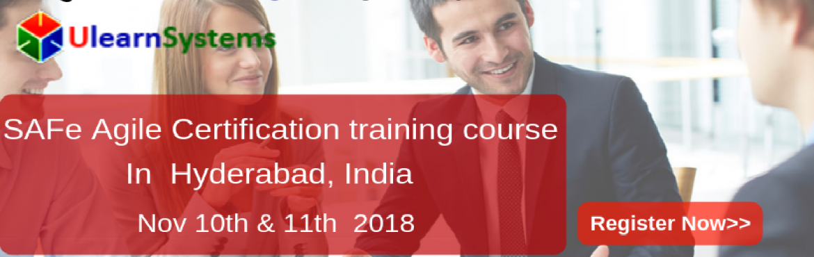 Book Online Tickets for Scaled Agile Framework Certification Tra, Hyderabad. Ulearn System\'s Offer Scaled Agile Framework Certification Training Course Hyderabad, India.  The Scaled Agile Framework® (SAFe®) is a complete guide or methodology for large-scale Agile project teams to execute