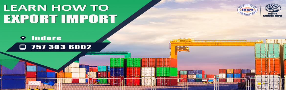 Book Online Tickets for Free Seminar on Learn How to Export Impo, Indore. To Reserve Your Seat Visit:http://g.indess.in/38TOPICS TO BE COVERED:- OPPORTUNITIES in Export-Import Sector- MYTHS vs REALITIES about Export- GOVERNMENT BENEFITS ON EXPORTS- HOW TO MAXIMIZE YOUR PROFITS http://g.indess.in/38#exportimport