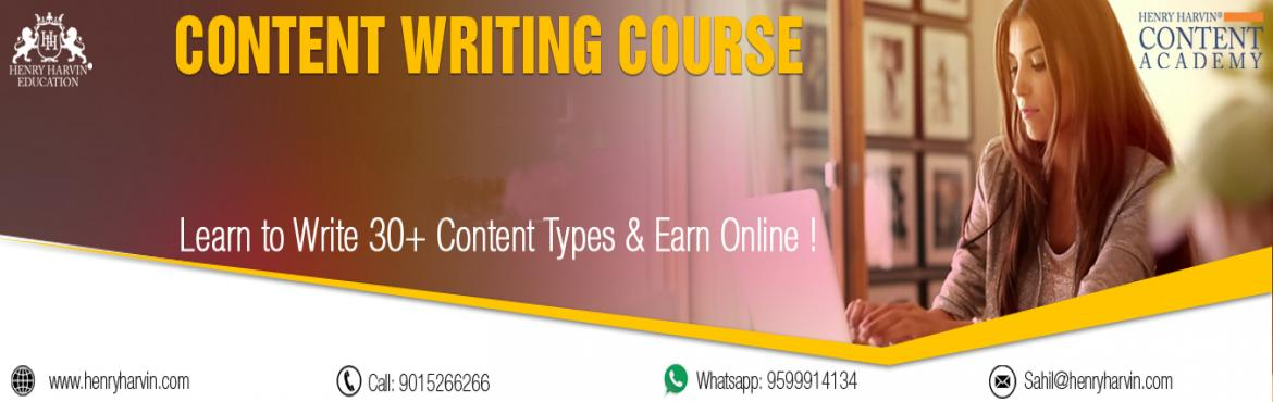 Book Online Tickets for Content Writing Course by Henry Harvin E, New Delhi. Henry Harvin Educationintroduces 32 hours Classroom Based Training and Certification course on content writing creating professional content writer, marketers, strategists. Gain Proficiency in creating 30+ content types and become a Certified D