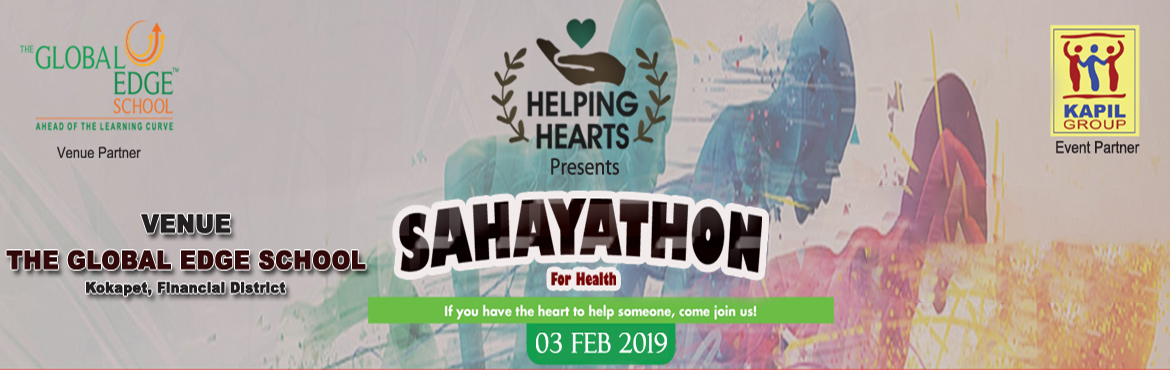Book Online Tickets for Sahayathon, Hyderabad. HELPING HEARTS  Helping hearts is a nonprofit organization started with the aim of helping the needy. It is a venture started by a few like minded educators who believe in giving back their share to the society. Our primary aim would be to provide fi