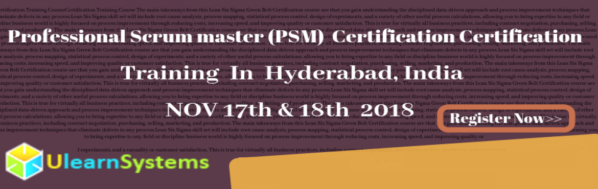 professional scrum master certification training hyderabad, india