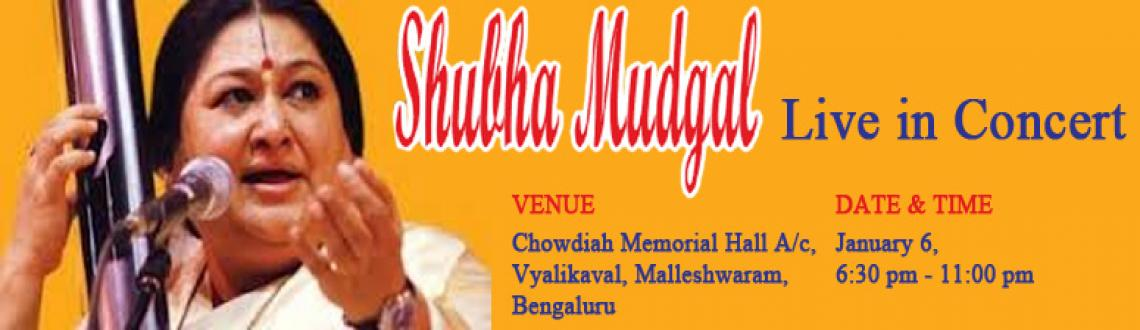 Book Online Tickets for Subha Mudgal Hindustani Concert @ Chowdi, Bengaluru. Born into a musically dedicated family, Shubha Mudgal has been trained by some of the finest musicians and musicologists in India. Trained by eminent scholar-musician-composer Pandit Ramashreya Jha \\\