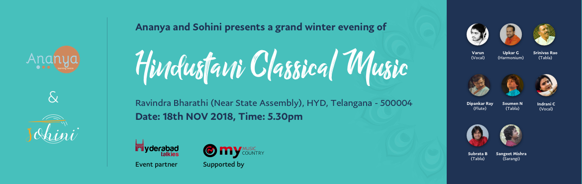 Book Online Tickets for Hindustani Classical Music Evening, Hyderabad.
