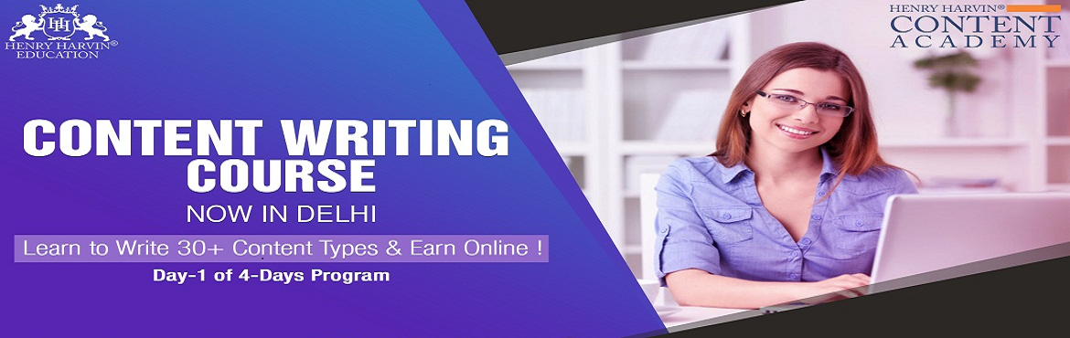Book Online Tickets for Content Writing Course by Henry Harvin E, New Delhi. Content Writing Course by Henry Harvin Education  Henry Harvin Educationintroduces 8 hours Classroom Based Training and Certification course on content writing creating professional content writer, marketers, strategists. Gain Proficiency