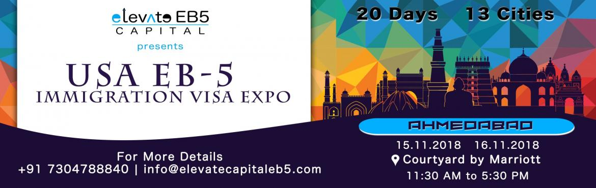 Book Online Tickets for Ahmedabad: USA EB5 Immigration Visa Expo, Ahmedabad. The US EB-5 Visa Program is a US Investment Immigration Program that enables foreign investors to obtain a US permanent resident (Green Card) status by investing in a business that will benefit the US economy and create jobs. As per the law, the inve