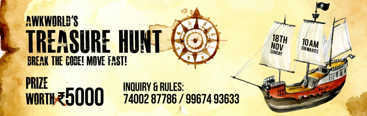 Book Online Tickets for Mumbai Treasure Hunt, Mumbai. 1 Anaar 100 Bimaar..This Time its Lil Different, Lil Dinchak.. Just like Maggie Tomato ketchup?Yayayyayaya Awkiesssssssss1st Episode of (ATH) Awkworld's Treasure HuntLil info Bout awkworld..We are community of people who believe \