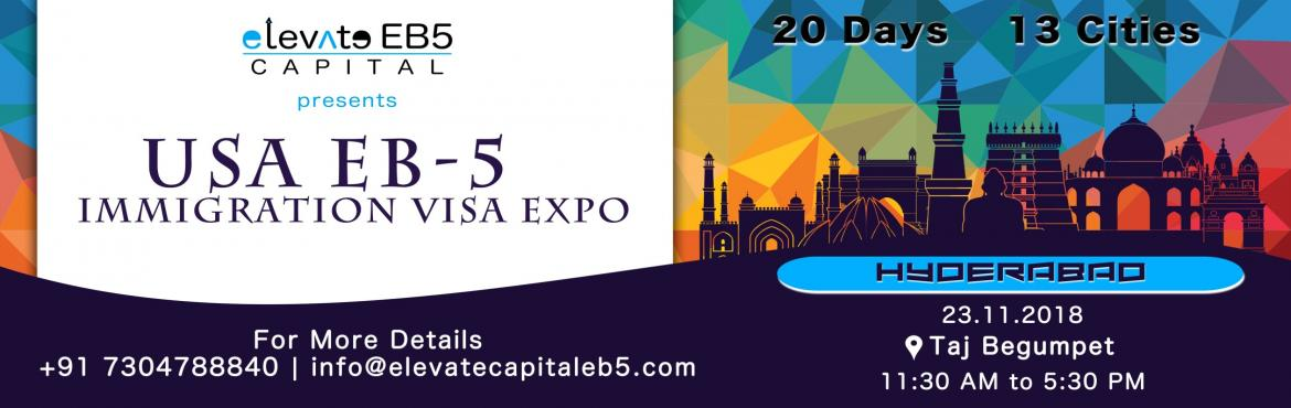 Book Online Tickets for Hyderabad: USA EB5 Immigration Visa Expo, Hyderabad. The US EB5 Visa Program is a US Investment Immigration Program that enables foreign investors to obtain a US permanent resident (Green Card) status by investing in a business that will benefit the US economy and create jobs. As per the law, the inves
