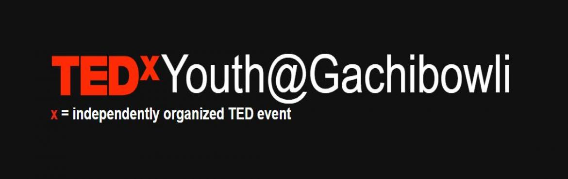 Book Online Tickets for TEDxYouth@Gachibowli 2018, Hyderabad. TEDxYouth@Gachibowli 2018 is a citywide gathering for curious and intellectual young minds to enlighten themselves by listening to our speakers give inspiring and influential talks regarding our central theme: Breaking Moulds and Shattering Ceilings,