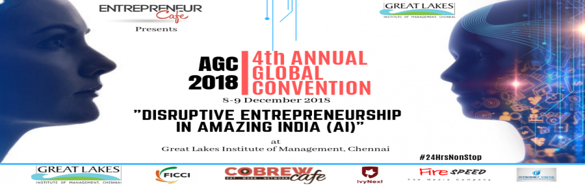 Book Online Tickets for AGC 2018, Chennai. AGC IS WORLD\'S FIRST24HOURNONSTOPPREMIER ENTREPRENEURSHIPEVENT.WE START AT 12 NOON ON 8TH AND END AT 12 NOON ON 9TH - NON STOP.WE FAMOUSLY SAY, \'IF YOU WANNA SLEEP, PLEASE DON\'T COME\'.GET SERIOUS ABOUT YOUR VENTURE.