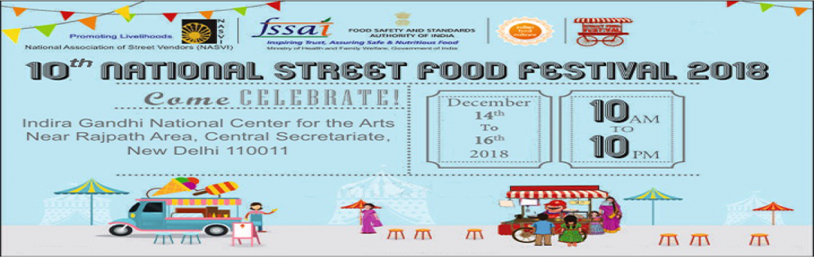 Book Online Tickets for 10th National Street Food Festival 14th , New Delhi. National Association of Street Vendors of India (NASVI) is a network and advocacy platform of 636 street vendor organizations representing 8,67,426 vendors across 25 states of India. In its advocacy efforts, NASVI adopted a new strategy by organizing