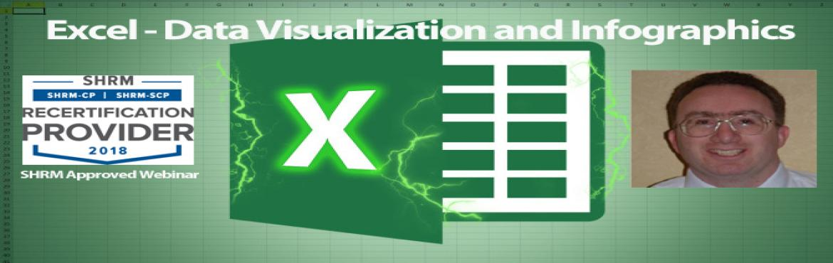 "Book Online Tickets for Excel - Data Visualization and Infograph, Aurora. OVERVIEW There is a saying, ""a picture is worth a thousand words"". In Excel that means finding ways to represent numerical data pictorially so that your audience can quickly and easily understand it. It\'s often easier to look at a c"