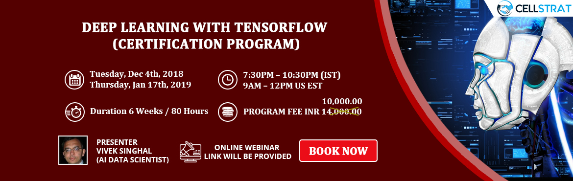 Deep Learning with TensorFlow (Certification Program) | MeraEvents com