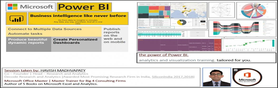 Book Online Tickets for Learn Power BI and Grow In Your Career, Noida. Welcome to the Training!    If you have been tracking Satya Nadella recently – it seems even Microsoft wants to stop relying on MS Office!  It is not just Satya Nadella.   Jeff Bezos recently banned PowerPoint in his me