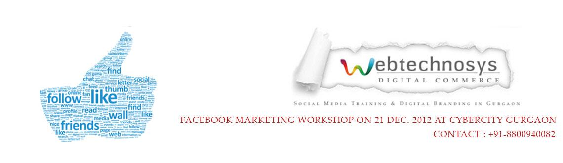 Facebook Marketing Workshop (21 Dec. 2012 at Cyber City, Gurgaon)