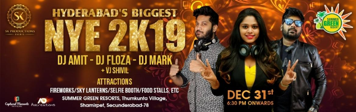 Book Online Tickets for Hyderabad Biggest NYE 2K19 at Summer Gre, Hyderabad. Get ready to beat the new year at the beautiful moonlight party in Hyderabad. Make this New Year Eve 2018 a memorable one by going to a one of a kind bash!!! This new year, reverberate in the celebrations at your favourite destinations Summer green r