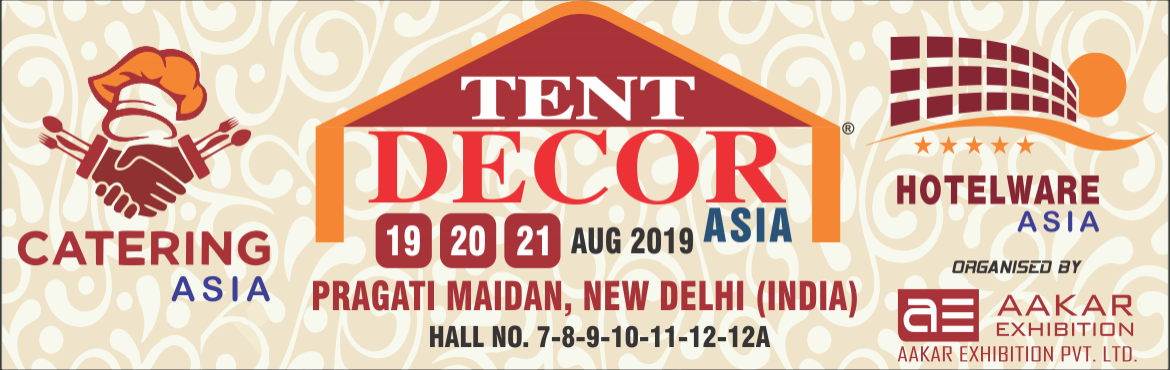Book Online Tickets for Tent Decor Asia 2019, New Delhi. India is a land of festivals, festivities, events, exhibitions and grand weddings. It is only the tent and decor service providers who converts the dreams into grand realities. They add the necessary tinge, Galore and Impact to it.The meetings, incen