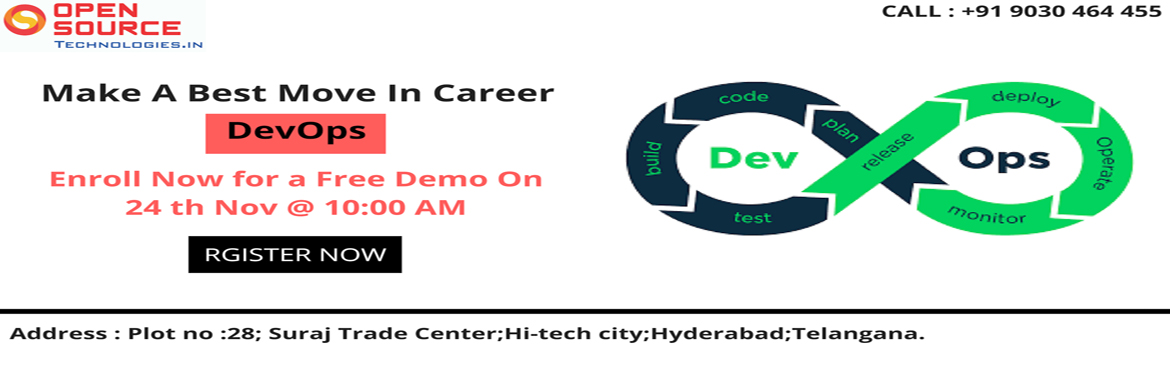 Build knowledge in all the end-to-end career oriented aspects of DevOps by enrolling in Open Source Technologies advanced career program of DevOps Tra