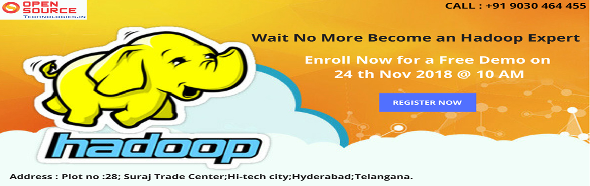 Attending this demo session will help the aspirants to get an idea about the flow of by Open Source Technologies Hadoop Training in Hyderabad.