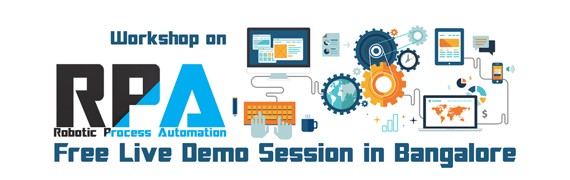 Book Online Tickets for RPA Workshop | Free Live Demo Class | Ba, Bengaluru.  Robotic Process Automation or RPA involves the use of software to perform variety of repetitive tasks within an enterprise. This technology is getting much pace in most industries owing to cost-savings, lesser manual errors and improved productivity