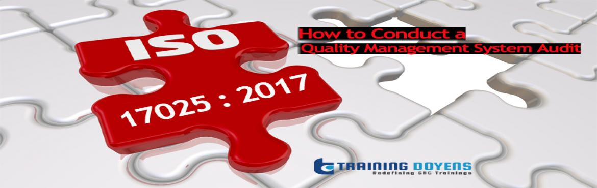 Book Online Tickets for How to Conduct a Quality Management Syst, Aurora. OVERVIEW ISO/IEC 17025 is the international standard for the general requirements for the competence of testing and calibration laboratories and has been updated and revised in 2017. The new version was released on November 19, 2017.  What are the ch
