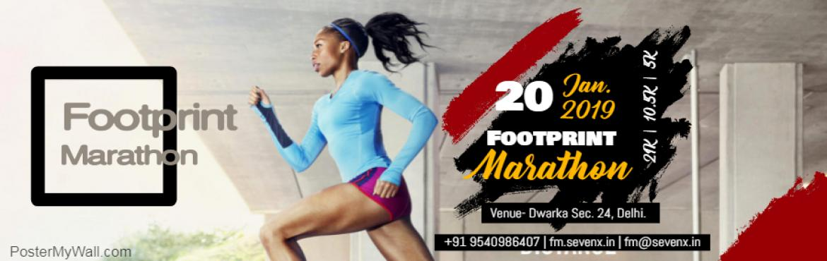 Book Online Tickets for Footprint Marathon, Delhi.   RUN AGAINST CARBON POLLUTION.   Are you in it for the long run? Join us for the special Footprint Marathon with the marching winters.Keep a track of your time or beat your previous record in this timed event.Don\'t miss it! &nbs