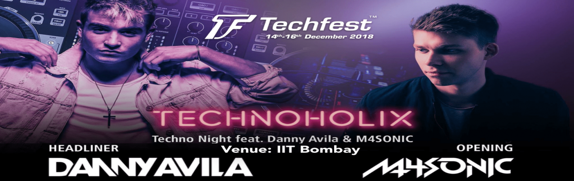 Book Online Tickets for EDM Dance Night | Technoholix - DJ Danny, Mumbai. Techfest, Asia\'s Largest Science and Technology Festival which is organized by IIT Bombay, brings to you its Techno EDM Night by Technoholix, on 16th December 2018 at Gymkhana Grounds, IIT Bombay.  Visit the Techfest website