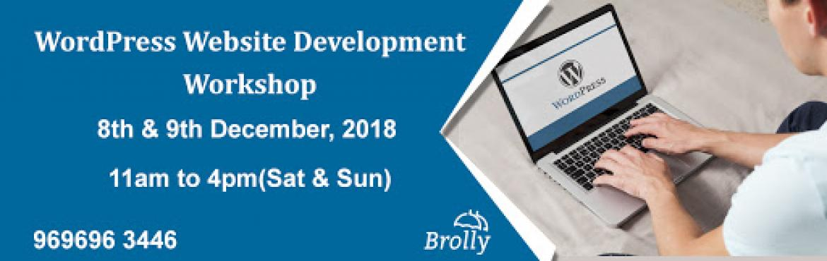 Book Online Tickets for WordPress Website Development Workshop H, Hyderabad. If you want to create a website and not sure where to start or how to build a site, then this could be an excellent opportunity for you. You can buy a domain & Hosting space under our experts\' guidance and go back with your live website in just