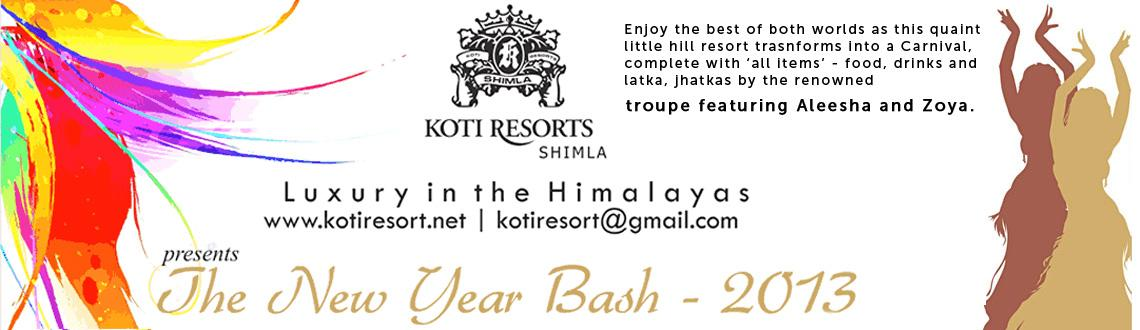 New Year Bash 2013 @ Koti Resorts