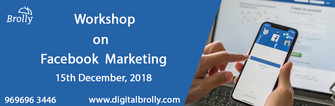 Book Online Tickets for Facebook Marketing Workshop From Digital, Hyderabad.  Facebook marketing workshop is a one day workshop happening on 15th Dec 2019 from 11:00 Am to 4:00 Pm.       In this workshop you will learn:       1. How to use Facebook for marketing.   2. Develop your business using Facebook.   3. Helps