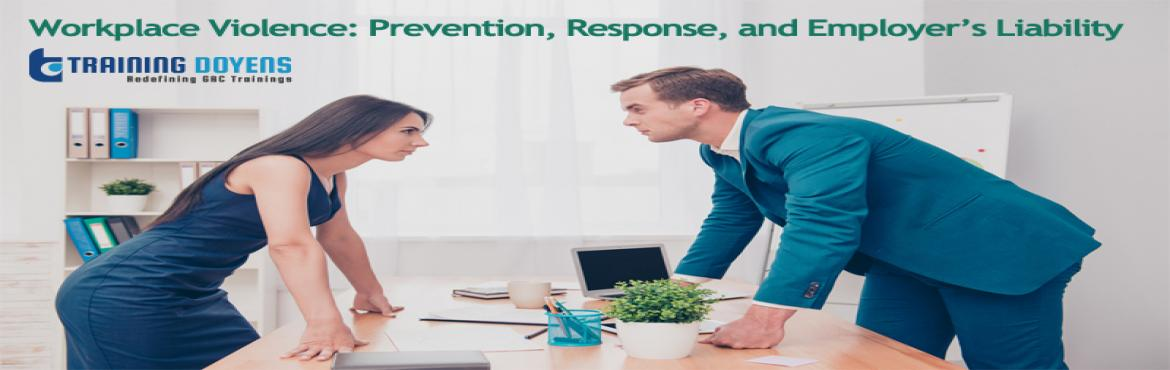 Book Online Tickets for Webinar on Workplace Violence Prevention, Aurora. OVERVIEW Ranging from employee performance issues to horrific mass murders, workplace violence is responsible for bringing both staggering economic losses and significant personal safety risks to businesses and the people that work in or visit them.