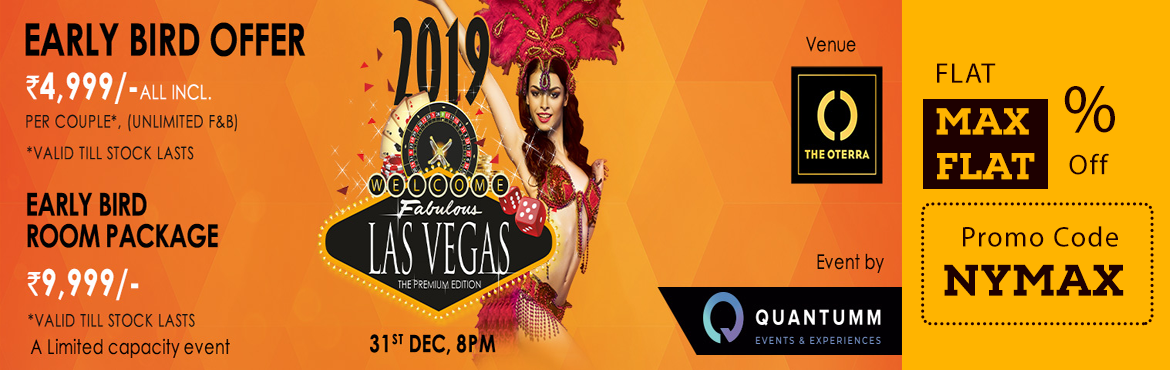 Book Online Tickets for LAS VEGAS 2019 at The Oterra Hotel, Bengaluru. Presenting the 9th Edition of Bangalore's most loved New year party – 'Las Vegas 2019' the Premium Edition. Over 25,000 people have celebrated their New Years eve with us! And we're back with a limited capacity affair th