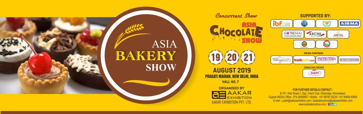 Book Online Tickets for Asia Bakery Show 2019, New Delhi. Asia Bakery Shw 2019 will be premier International Standard Bakery, Chocolates & Desserts exhibition presenting the Largest gathering of Bakery and Confectionery Industry players to showcase the industries supply chain, ranging from machinery to