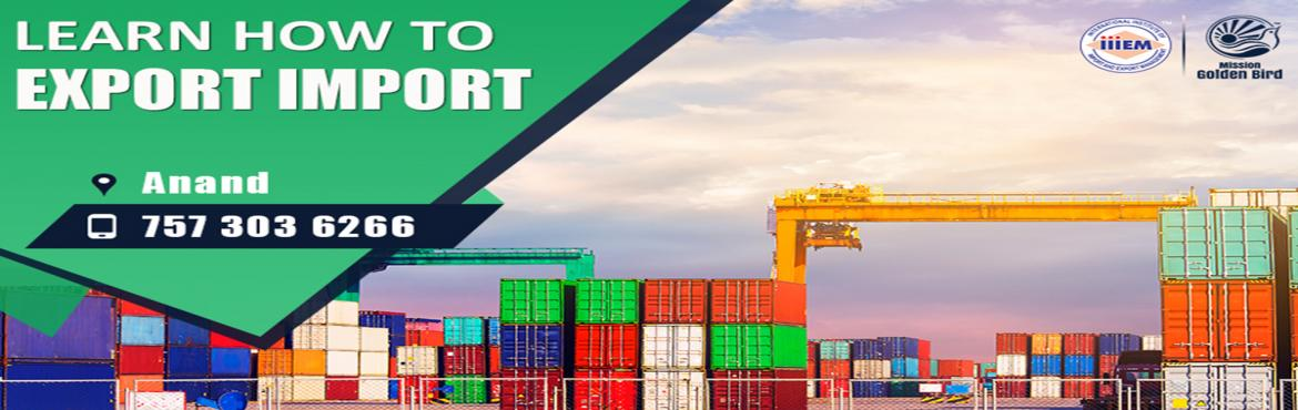 Book Online Tickets for Free Seminar on Export Import at Anand, Anand. To Reserve Your Seat Visit:http://g.indess.in/41TOPICS TO BE COVERED:- OPPORTUNITIES in Export-Import Sector- MYTHS vs REALITIES about Export- GOVERNMENT BENEFITS ON EXPORTS- HOW TO MAXIMIZE YOUR PROFITS http://g.indess.in/41