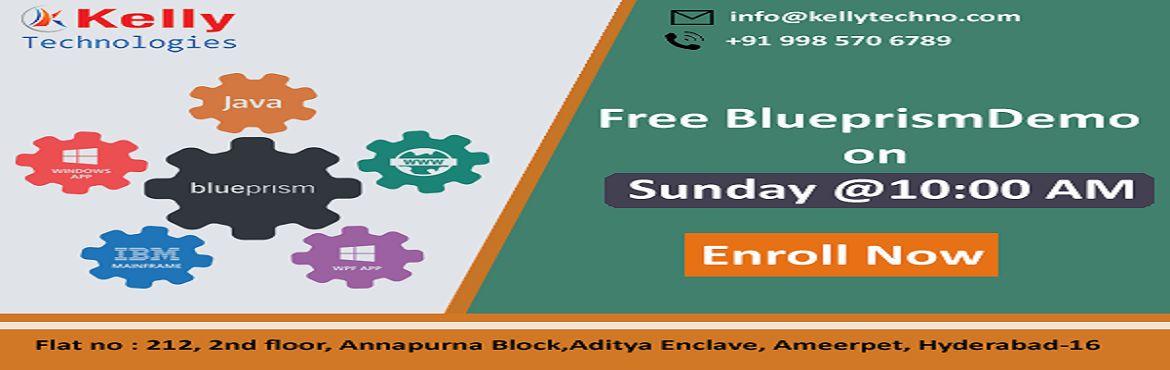 Book Online Tickets for Boost Your Career Based Real-Time Knowle, Hyderabad. Enroll Now In Kelly Technologies Free Blue Prism Demo Scheduled By Experts At Kelly Technologies On 2nd Dec, 10 AM  About The Demo:  Blue Prism is one among the most predominantly used Robotics Process Automation tool which helps the organization to