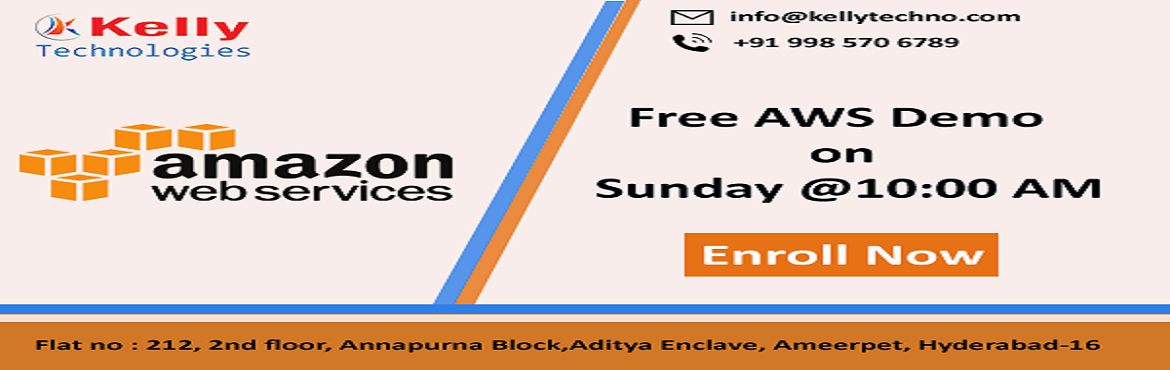 Book Online Tickets for Ensure On Building the Best Set Of Caree, Hyderabad. Grab The Best Set Of Career Knowledge Of AWS By Enrolling For Kelly Technologies Free AWS Demo Session On 2nd Dec, 10 AM Kelly Technologies with the intent to enlighten the AWS interested aspirants regarding the effective career opportunities in the