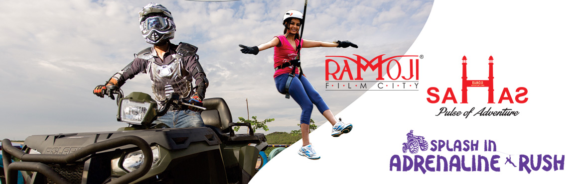 Book Online Tickets for SAHAS COMBO, Hyderabad.  Guided Tour of Ramoji Film City Non – A/c Vintage Bus (10 am to 5 pm) Spirit of Ramoji Show Fort Frontier Wild West Stunt Show, Fundustan (Child play area), Borasura Toyland & Rain dance Complementary at Eureka Note: DSLR Cameras above 18-