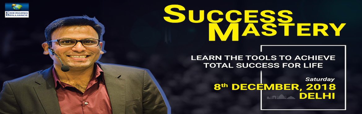 Book Online Tickets for Success Mastery, New Delhi.        The workshop is lead by Amandeep Thind from London(Lead speaker for Tony Robbins' Unleash The Power Within previews)-- Date: 8th December, Saturday.Time: 10 am to 2 pmVenue: Indian Islamic CentreCost: FREE for the first 50 registrants &n